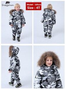 Image 2 - Marka Orangemom oficjalny sklep odzież dziecięca, zima 90% dół kurtki dla dziewcząt chłopców odzież na śnieg, dziecko dzieci płaszcze kombinezon