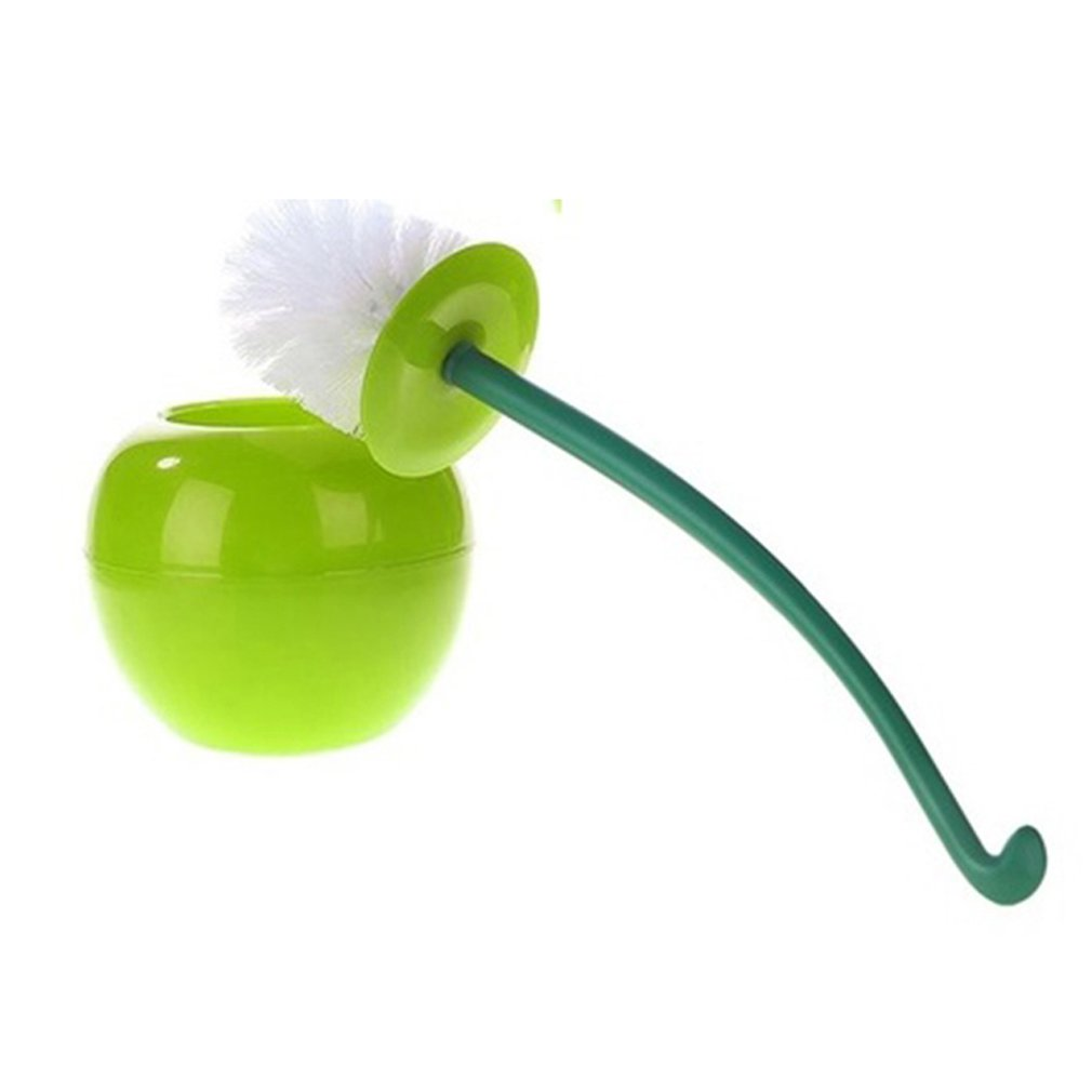 Funny Cherry Design Toilet Bowl Brush Bathroom Cleaning Tool Holder With Base Toilet Brush Home Cleaner