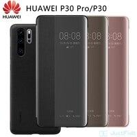 100% oficial HUAWEI P40pro P30pro caso Flip Smart View lindo cuero Huawei P40 pro caso P30 pro funda Original