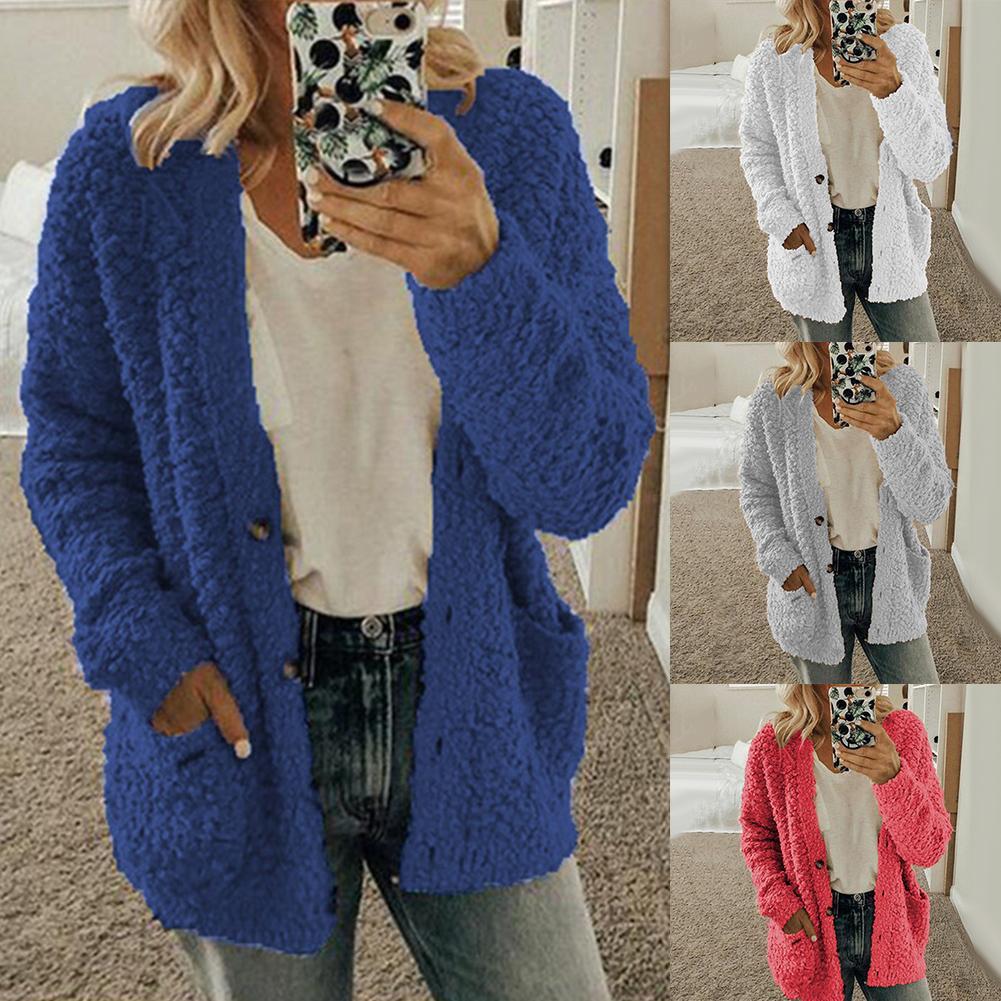 Cardigans Women Tops Winter Sweaters Women Solid Loose Knitwear Casual Knitting  Cadigan Sweater Outwear Cardigan  Pull Femme