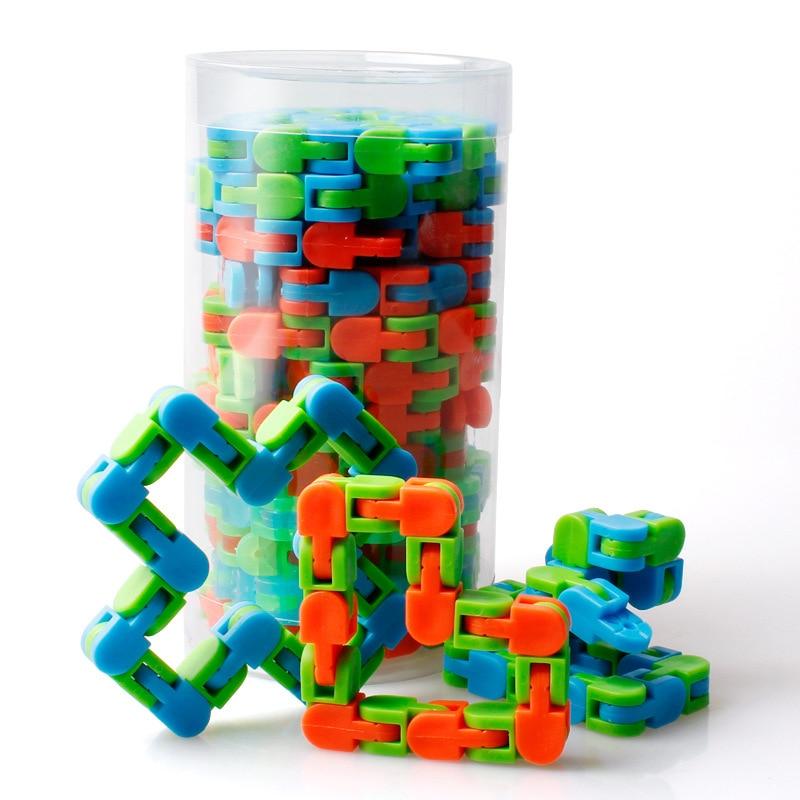 Wacky Tracks Autismo Sensorial Snap And Click Fidget Toys Kids Autism Snake Puzzles Classic Sensory For Children's Toys