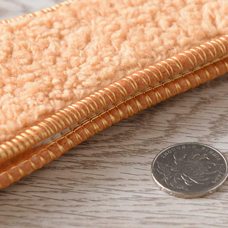 1 คู่ Unisex สีน้ำตาล Insoles สำหรับรองเท้าฤดูหนาว WARM Faux FUR ขนสัตว์ Insoles ผู้ชายผู้หญิงหิมะรองเท้าแทรกรองเท้า Soles Pad