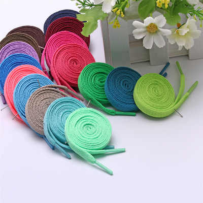 29 Kinds Of Color Colored Shoe Laces Sneaker Flat Shoelaces Hiking Boots Shoe Strings Colored Shoe Laces for Sneakers 1pair