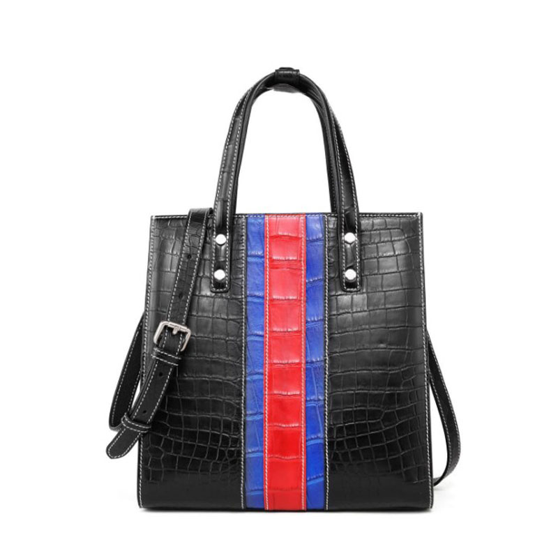 Hongzhiyan New Vertical Handbag  Cross-body Bag Lady Bag Crocodile Leather Bag Women Handbag