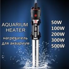 Aquecedor de água submersível para aquário, 220v, aço inoxidável, haste de aquecimento ajustável, controlador de temperatura para aquário, 50w-500w w