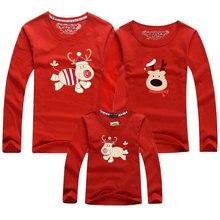 Matching T-Shirts Pajamas Christmas Family Red Elf Reindeer Full Top Tees Elk-Print Santa-Claus