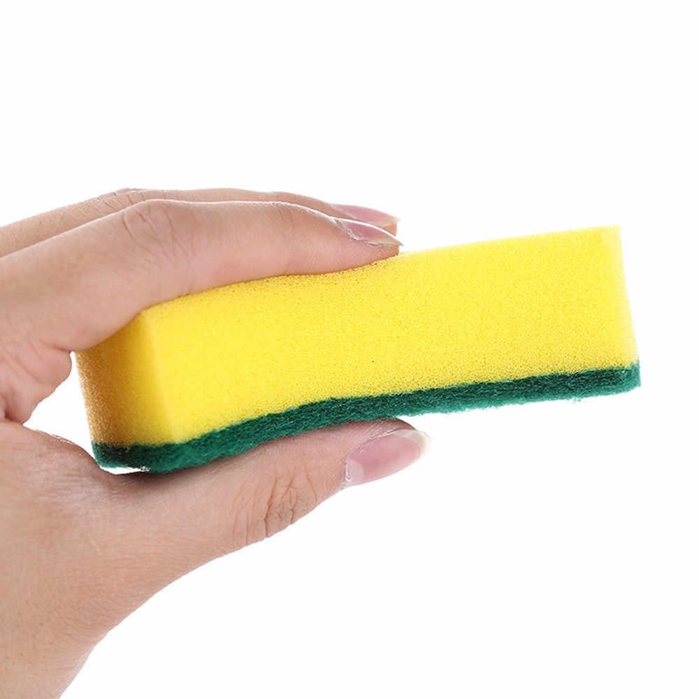 1 adet yüksek yoğunluklu sünger Mutfak Temizlik Araçları Yıkama Havlu silme bezi Sünger Ovma Pedi Mikrofiber bulaşık temizleme Bezi @ 40