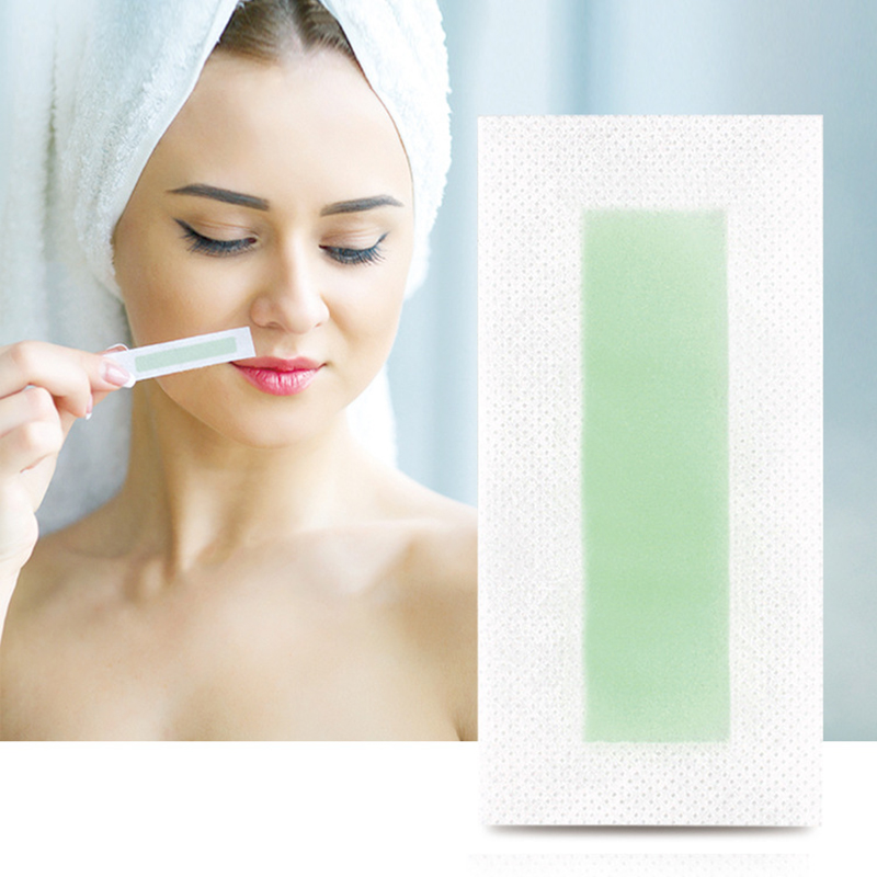 24pcs Hair Removal Tool Wax Strips Waxing Wipe Sticker Silky For Face Leg Lip Eyebrow Leg Arm Body Hair Removal TSLM1