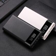 ポータブル PD 3.0 急速充電電池ボックスケース 6 × 18650 パワーバンクケースシェル Led ライトデジタルディスプレイ充電器ボックス