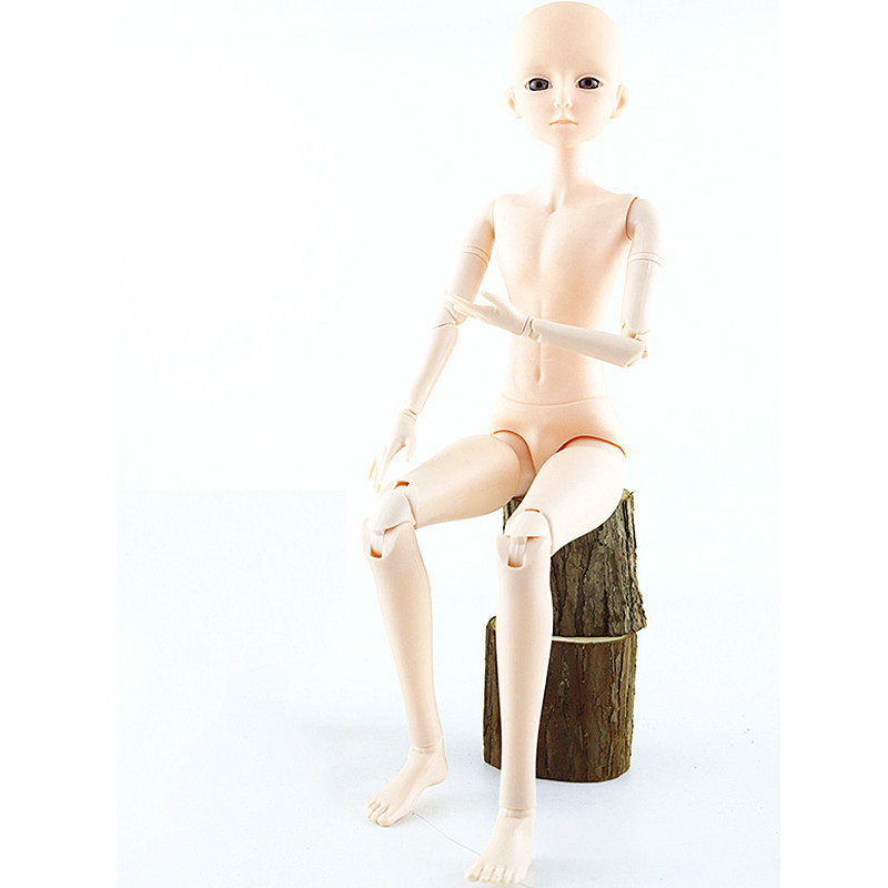 Wholesale 21 Movable Jointed BJD Male Dolls Toys With 3D Eyes 60cm Naked Nude Head Body Bjd Dolls Toy For Girls Christmas Gift