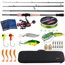 Sougayilang Fishing Rod Combo2.1m Carbon Feiber Travel Spinning Fishing Rod and 14BB Spinning Reel Rod Lure Line Bag Fishing Kit new lure rod set spinning rod fishing reel combos full kit 1 8m 3 0m fishing rod pole reel line lures hooks portable bag