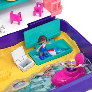 Image 2 - Original Mattel Polly Tasche Mädchen Haus Puppen Große Millionen Welt Schatz Box Luxus Auto Reise Anzug Mädchen Spielzeug Große Tasche welt