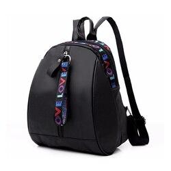 Nouveau sac à dos pour femmes en cuir PU voyage sac à bandoulière sac à bandoulière fille multifonctionnel petit sac à dos scolaire pour les femmes noir