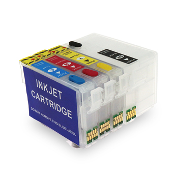 For Epson 252xl 252 T2521 T252 T2521XL Refillable Ink Cartridge With ARC Chip Refill Cartridge for Epson WF-3620 WF-3640 WF-7110 refill ink cartridge t03a1 t03a4 for epson workforce wf 2810 wf 2830 wf 2835 wf 2850 printer with one time chip singe use