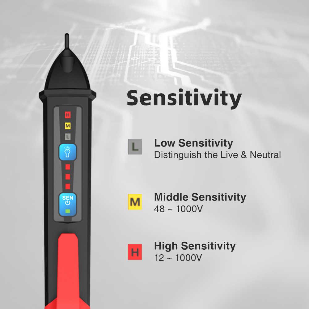 50-60Hz AC 12-1000V bezdotykowy miernik napięcia w formie długopisu detektor obwodu gniazdo ścienne gniazdo zasilania prądu przemiennego czujnik napięcia LCD Alarm
