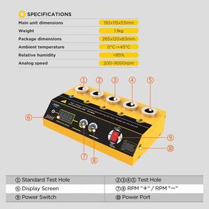 Image 3 - AUTOOL probador de bujía de coche SPT360, herramienta de diagnóstico automotriz, Analizador de destello de bujía de doble orificio, 220V