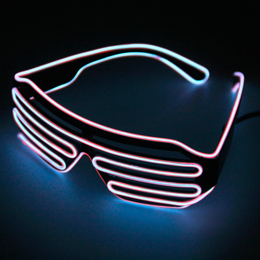 LED Glasses Light Up Shades Flashing Rave Wedding Party Indoor/Outdoor Night Shows Activities Christmas Decors Wholesale