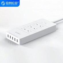 ORICO – multiprise US, prise électronique pour bureau et maison, 6AC, avec 5 Ports usb, rallonges