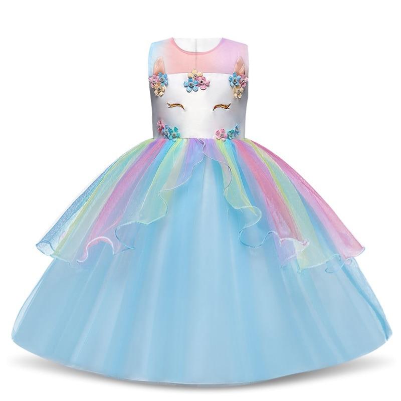 Платье для девочек; элегантное Новогоднее детское праздничное платье принцессы; свадебное платье; Детские платья для девочек; платье для дня рождения; Vestido; одежда - Цвет: Style 14 Blue