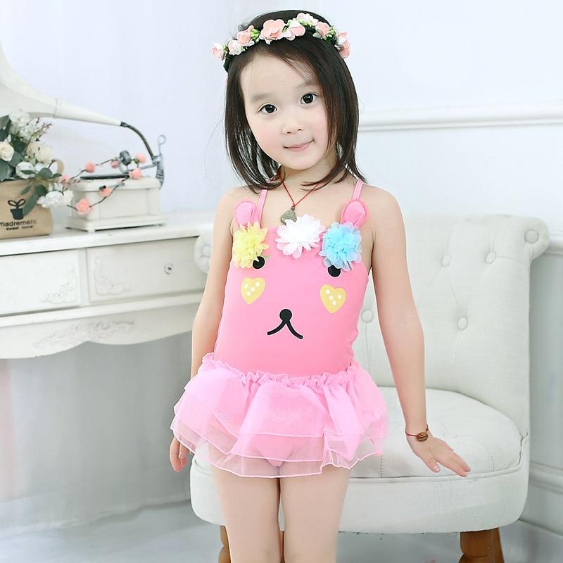 Baby Bathing Suit Kids 1-3 Years Old Girls Swimwear Small CHILDREN'S Infants Cute Children GIRL'S One-piece Princess Skirt