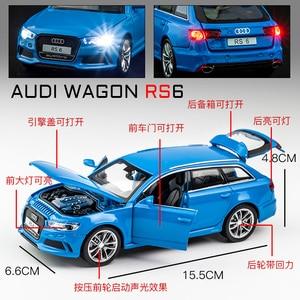 Бесплатная доставка, новинка 1:32, модель автомобиля Audi RS6, литой автомобиль из сплава, Игрушечная модель автомобиля, коллекционная детская игрушка|Наземный транспорт|   | АлиЭкспресс