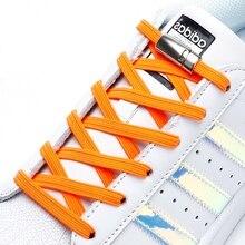 Эластичные шнурки магнитный мода удобство металл замок ленивый шнурки на открытом воздухе кроссовки быстрый плоским без галстука шнурки 1 пара