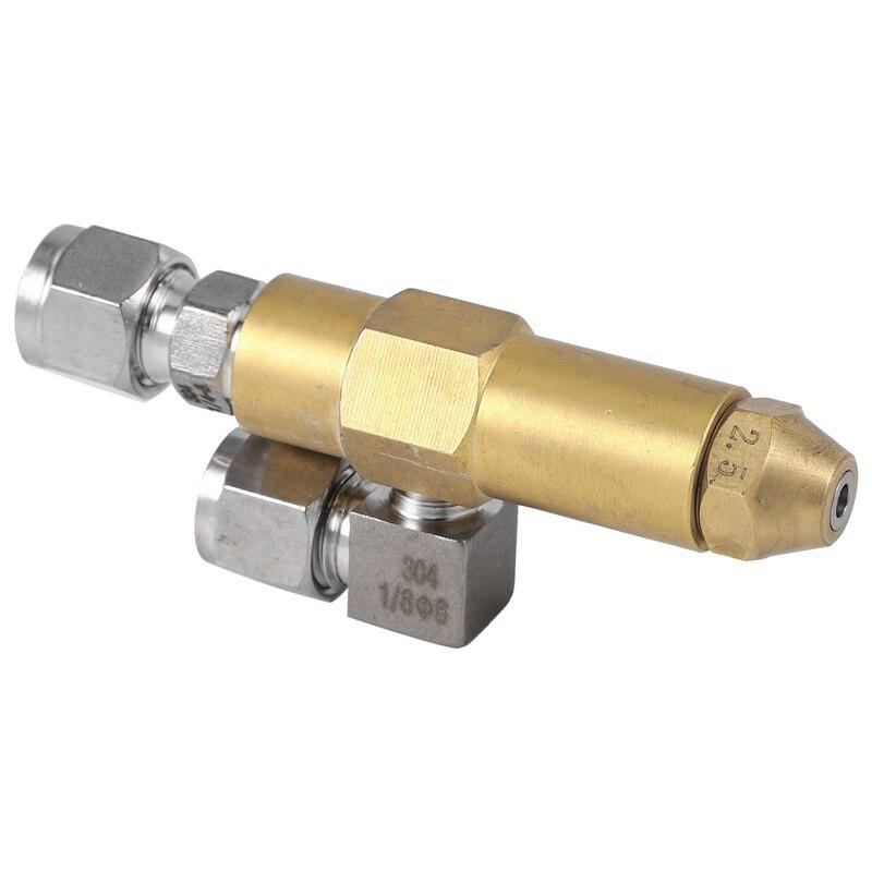 Tools : Waste Oil Burner NozzleSiphon Air Atomizing NozzleOil JetAir Atomizer Spray Nozzle