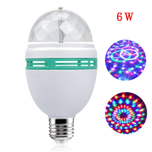 E27 6W Colorful Auto Rotating RGB LED Bulb Stage Light Effect Party Lamp laser Disco Light for Home Decoration Lighting Lamps