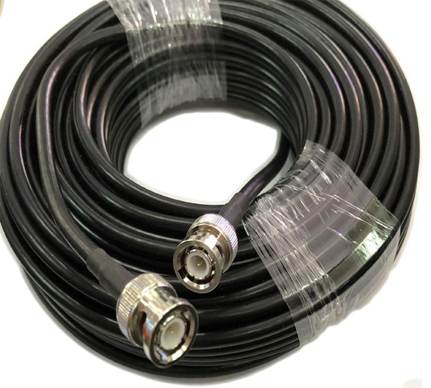Câble Coaxial RG58, connecteur BNC mâle vers mâle, adaptateur RF 50-3, 50ohm, 30m, 20m, 10m, 5m, 1m