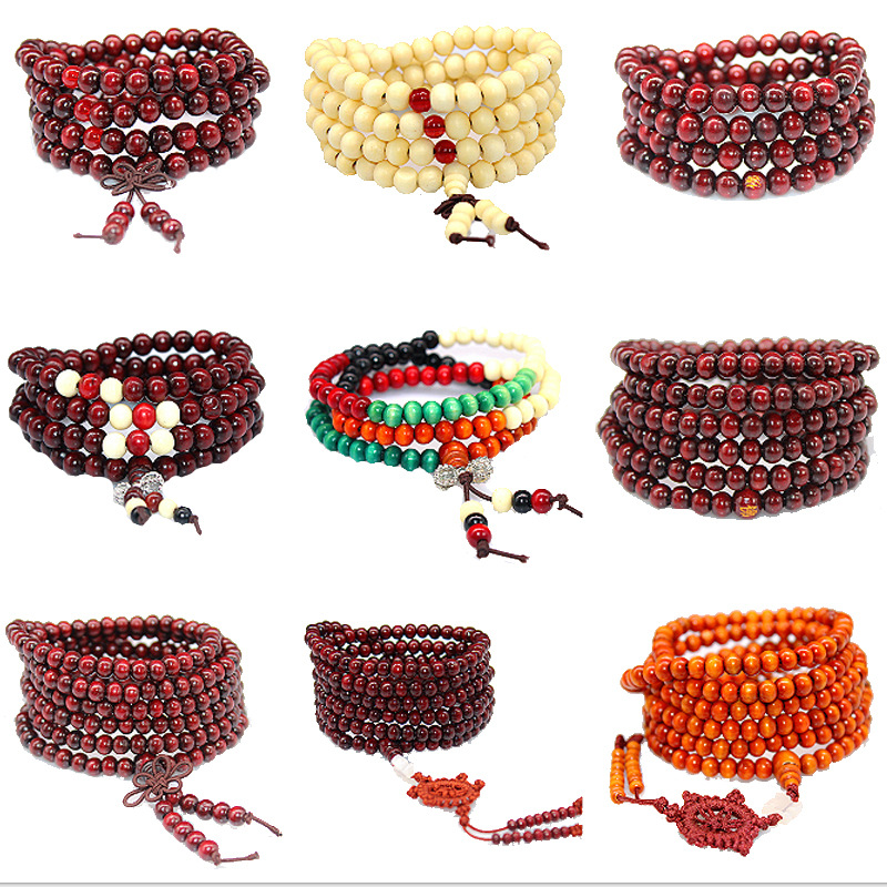5 Colors 108 Beads 8mm Sandalwood Buddhist Jewelry Buddha Wood Prayer Bead Mala Unisex Men Bracelets & Bangles Jewelry Bijoux