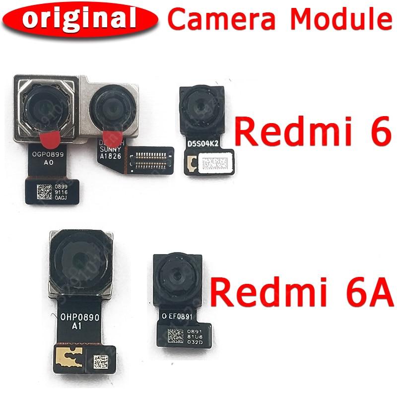 Original frente vista traseira traseira câmera para xiaomi redmi 6 6a principal frente frontal módulo da câmera cabo flexível peças de reposição