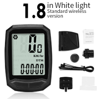 1.8 White-Wireless-INBIKE Waterproof Bicycle LED Digital Rate Wireless/Wired MTB Bike Odometer Stopwatch Speedometer