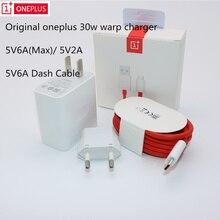 원래 oneplus 워프 충전 30 w 전원 어댑터 워프 eu 미국 충전기 5v6a 최대 유형 c/usb 케이블 빠른 충전 30 w oneplus 7 pro