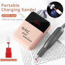 Professional Portable Rechargeable Nail Drill Machine Set Nail Art Polishing Remover Manicure Pen Tool Nail Drill File Bits Kits rechargeable nail drill 35000rpm portable electric nail drill machine manicure set file nail pen machine kit nail grinder bits