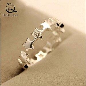 Новое красивое ювелирное изделие со звездами из стерлингового серебра 925 пробы с гипоаллергенным кристаллом для женщин, изысканный подарок...