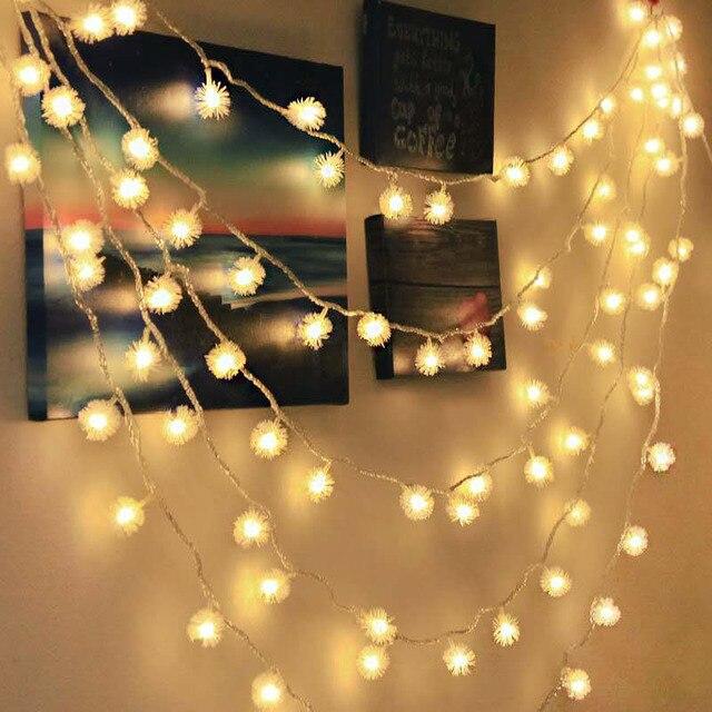 1,5/3/6/10 M Weihnachten Baum Schnee Flocken Fee Lichter Schneebälle LED String Lichter Xmas Party home Garten Girlande Dekoration Licht