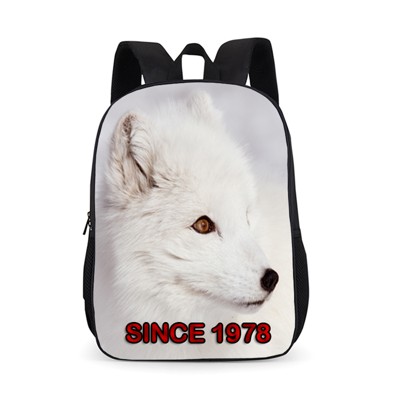 Classic Brand Backpack Men Women Waterproof Fox Backpacks Fashion Laptop Travel Bags Teenages Students Schoolbag Girls Mochilas image