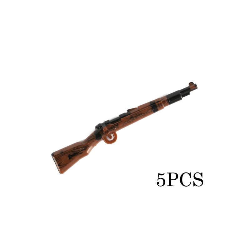 WW2 Militaire Soldaat Accessoires Bouwstenen Leger Cijfers Duitse Gedrukt Kar98k Guns Wapen Onderdelen Bricks Boys Toys