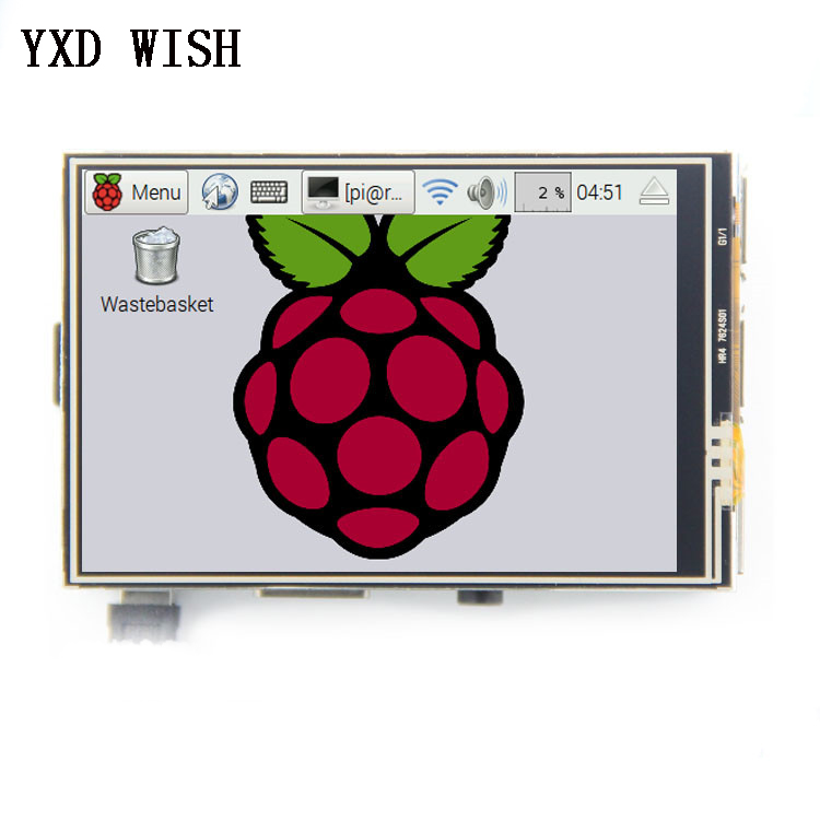 <font><b>3</b></font>.5 inch <font><b>TFT</b></font> <font><b>LCD</b></font> Display Touch Screen Monitor For Raspberry Pi <font><b>3</b></font> <font><b>2</b></font> Model B 480x320 RGB Pixels Touch Screen Module Display Board image