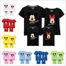 Zomer Familie Bijpassende Outfit Mickey Minnie Mouse Mama Papa Kid Zoon Dochter Baby T-shirt Familie Look Kleding Kinderen Top Tee(China)