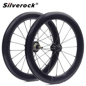 "Image 1 - Bike Alloy Wheelset 1 3/4 Speed 16 x1 3/8"" 349 Width 40mm Rim 14H/21H For Brompton 3sixty Ultralight Folding Bike Wheelset 1176g"