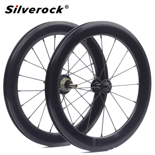 "Bike Alloy Wheelset 1 3/4 Speed 16 x1 3/8"" 349 Width 40mm Rim 14H/21H For Brompton 3sixty Ultralight Folding Bike Wheelset 1176g"