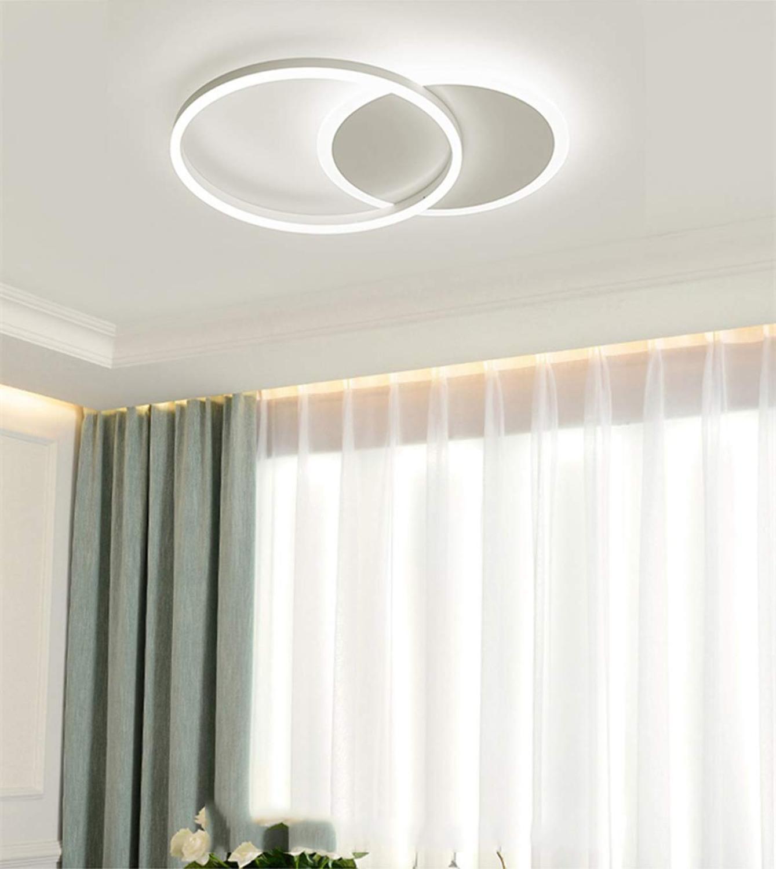 Ganeed Modern Ring Round Ceiling Light 37w Led Flush Mount Light Fixture 6500 Cool White Lighting For Living Room Kitchen Ceiling Lights Aliexpress