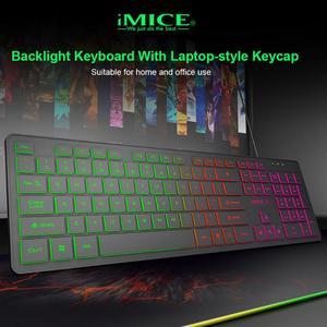 Image 4 - IMICE, AK 200, USB, luz de fondo con cable, teclado de membrana de 104 teclas para ordenador, PC, escritorio, Juegos de ordenador portátil, teclados