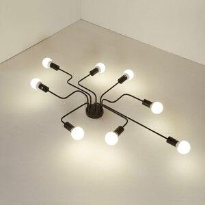 Image 4 - 現代のledシーリングシャンデリア照明リビングルームベッドルームシャンデリアクリエイティブホーム照明器具送料無料