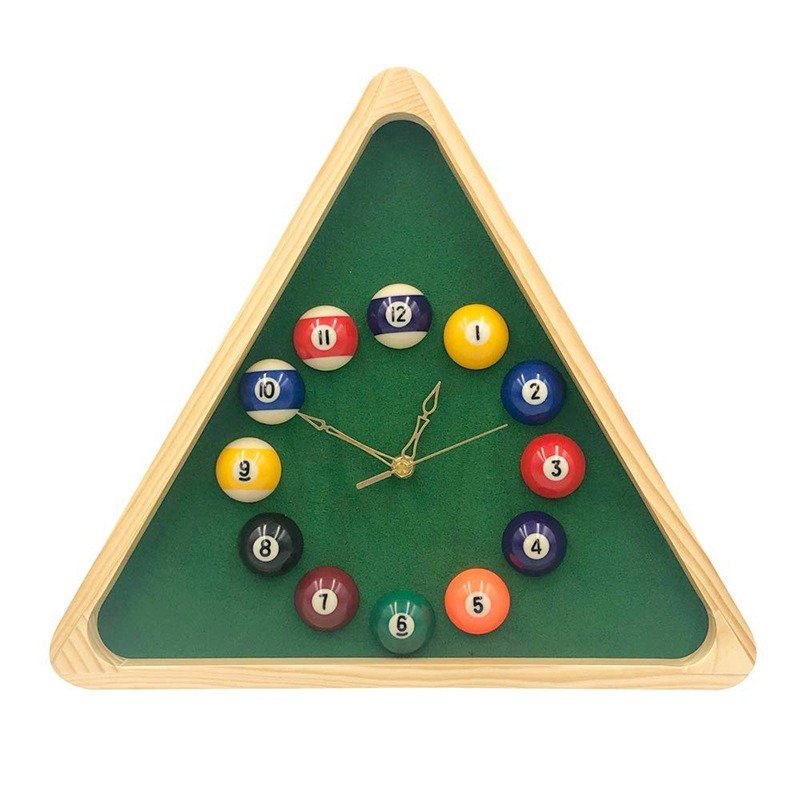 13 Inch Billiard Quartz Clock With Solid Wood Frame Creative Wall Clock For Living Room,Bedroom