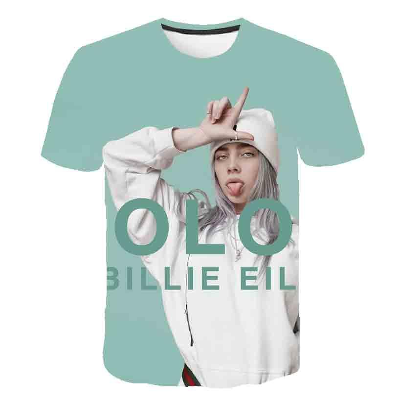 Billie Eilish Summer T-shirts Kids Tops 3D Baby JOJO Siwa Girls Clothes Fashion Cartoon Boys Clothes T Shirt Costume Camisetas