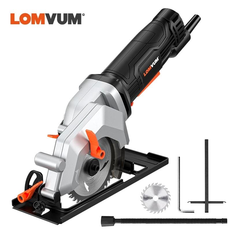 lomvum mini circular saw wood cutting metal tile cutter with blade saws electric saw power tool
