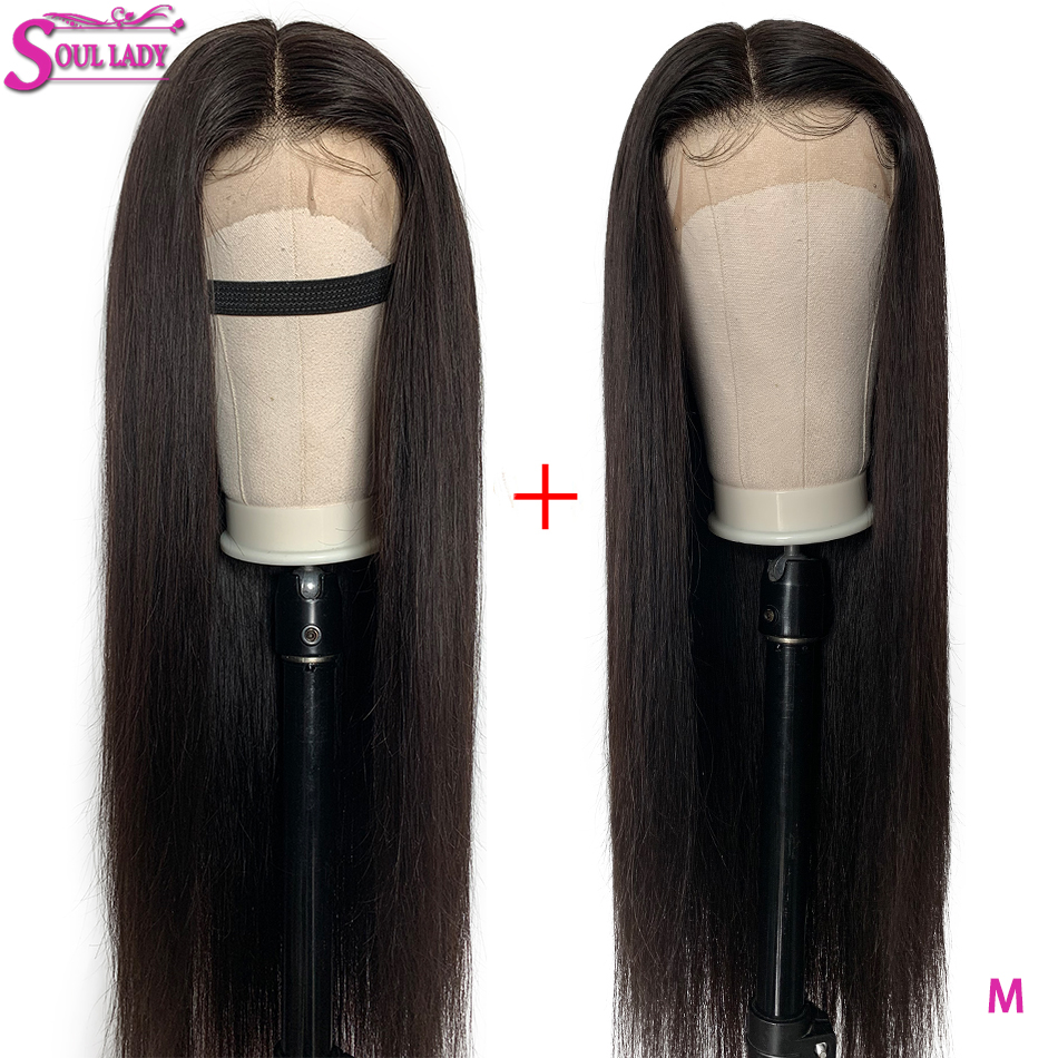 13X6 Transparent Lace Wigs Pre Plucked And Bleached Knots Lace Front Human Hair Wigs Remy Indian Straight Wig 150% Middle Ratio