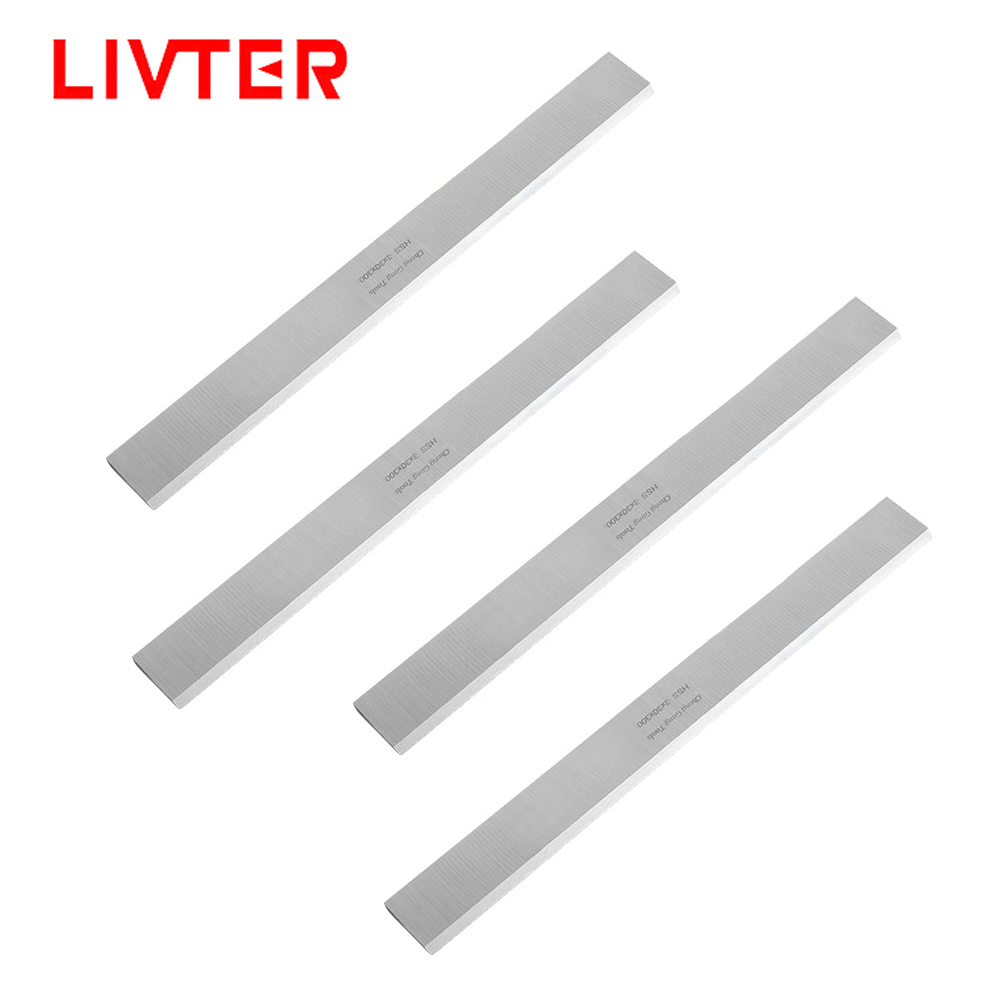 LIVTER 2pcs / 4pcs HSS Wood Planer Blade Woodworking Flat Knife For 13 Inch Portable Thickness Planer